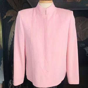 ST. JOHN Collection Mandarin Collar Knit Jacket